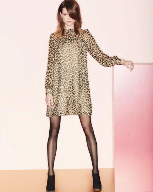 f3c1e02d662b NWT Kate Spade Leopard-Print Clip Dot Ruffle Silk Baby Doll Mini Dress w  Belt 12 #katespade #leopard #luxefashionfinds