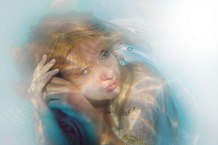 fotografia subaquática de fadas