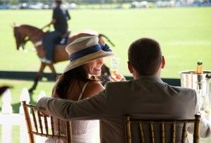 Palm Beach Polo: Veranda seating at International Polo Club Palm Beach, Florida
