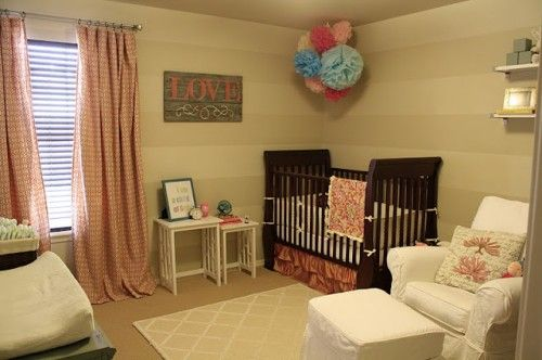 Love the Neutral colors! You can easily make this into a nursery for a baby boy, just by changing the accent colors.