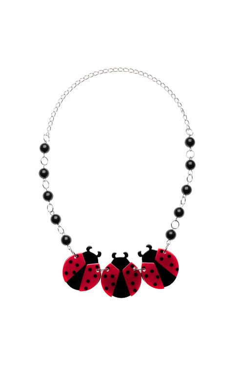 Erstwilder Loving Ladybugs Necklace