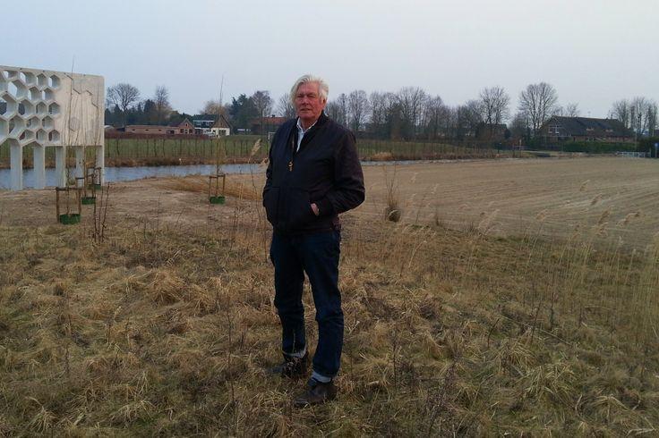 28 maart 2013 Piet Oudolf na eerste presentatie ontwerp in de Vlinderhof