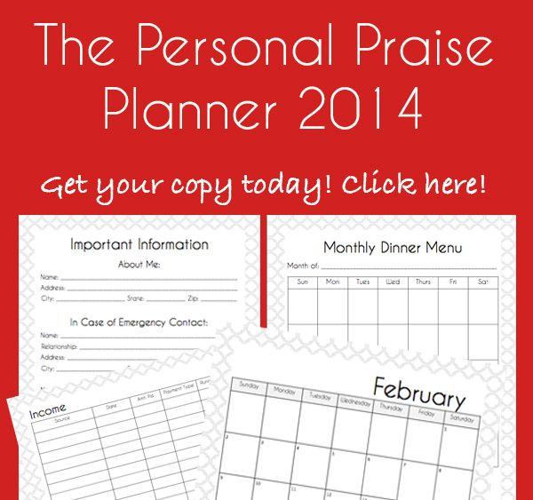 2014 Agenda personal - En Ingles Y Español!!! | Paradise Praises