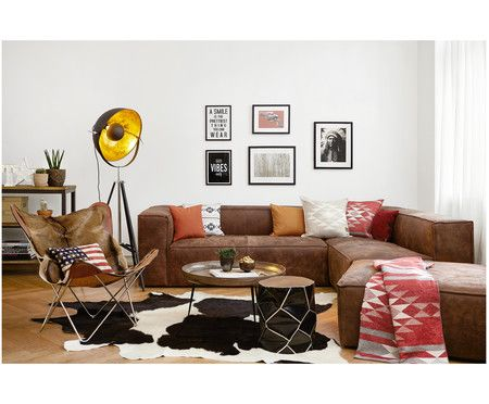 Leder Sofa Set Summer, 3 Tlg