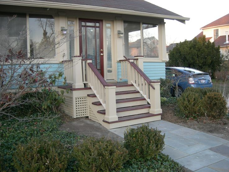 7 best Bungalow Stair Railings images on Pinterest | Front ...