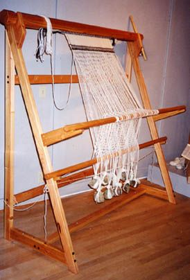 Sami Warp Weighted Loom by Fireside Looms - available in two and four shaft versions.