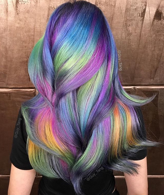 @hairbesties_ throwback to that one interesting color combo❤️ it doesn't make sense but who cares it's fun!