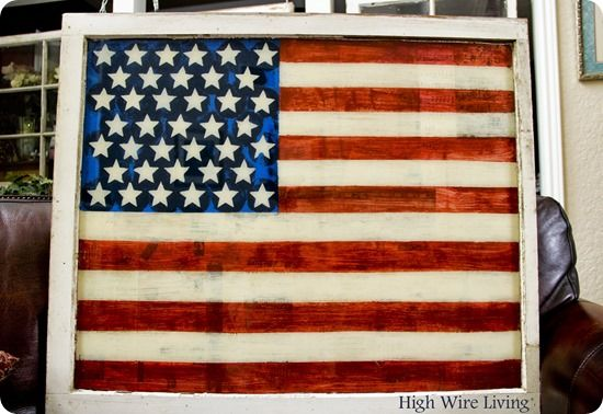 Turn an Old Window into Fourth of July D�cor