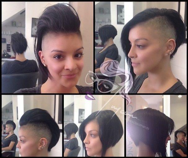 10 robusto faux hawk peinados para la mujer dura!