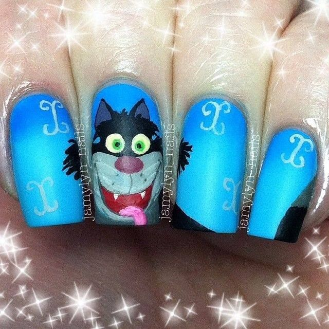 Cinderella Nail Art: 17 Best Images About Nails With Cats On Pinterest