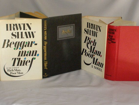 Irwin Shaw Book Lot Rich Man Poor Man 1970 BeggarMan by parkie2, $23.00