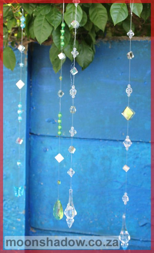 Hand-crafted sun-catchers add colour and sparkle to the garden.   #Moonshadow #Swellendam #SouthAfrica