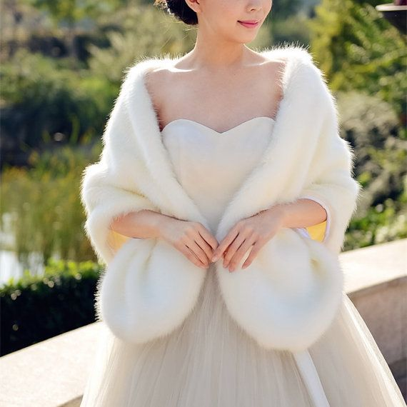 Hey, I found this really awesome Etsy listing at https://www.etsy.com/listing/258116892/long-ivory-faux-fur-wrap-shawl-coat