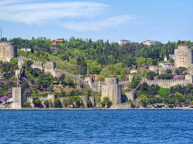 #sea #deniz #mavi #blue #boğaz #bosphorus #rumeli #rumelihisarı #kale #green #yeşil #ağaç #tree #cami #bayrak #mosque #flag #Castle #rampart #sur #turkey #türkiye #istanbul #sarıyer #sahil #coast