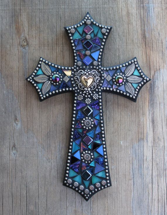 Mosaic Cross 12 by EarthstarMosaics on Etsy