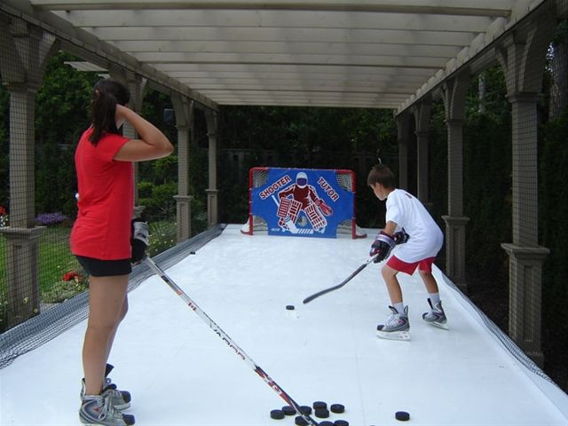 Best Synthetic Ice Rink Ideas On Pinterest Ice Hockey Rink - Backyard roller hockey rink