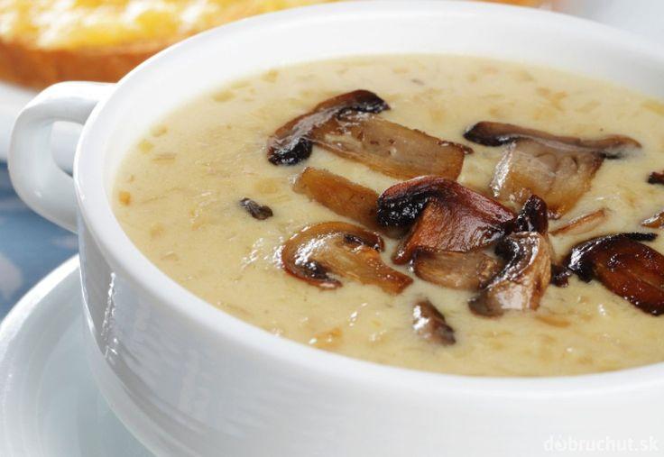 Krémová hubová polievka
