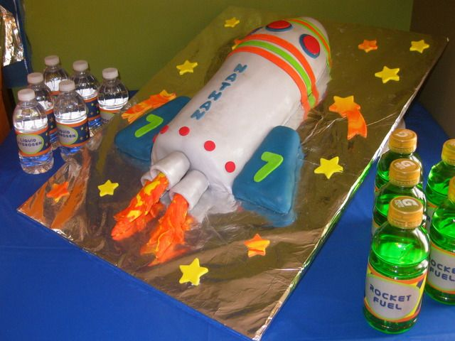 "Photo 3 of 35: rocket/space / Birthday ""OUT OF THIS WORLD!"" 