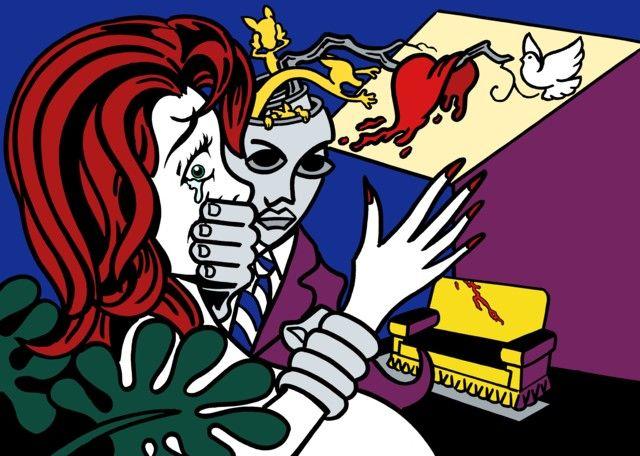 Verso il 25 novembre, Giornata contro la violenza sulle donne  «Criminal Heart» è il dipinto realizzato da Fulvio Bernardini sul tema del femminicidio, una cui copia verrà data a papa Francesco dal sindaco di Ventimiglia