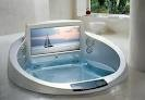 Even better than a bathtub!  The La Scala Jacuzzi Tub with 42-Inch Television