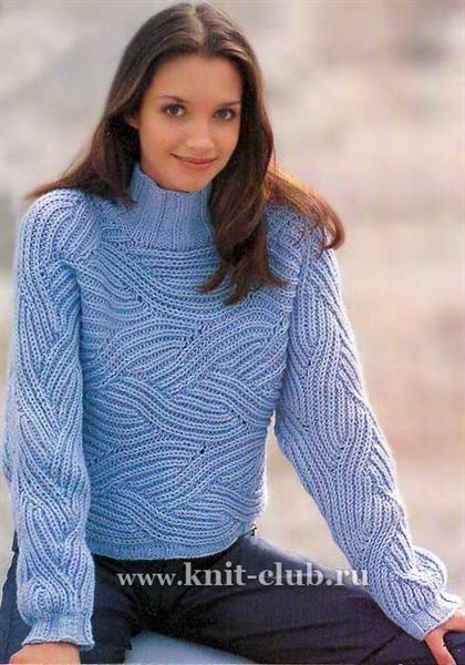 Вязание спицами женские свитера больших размеров
