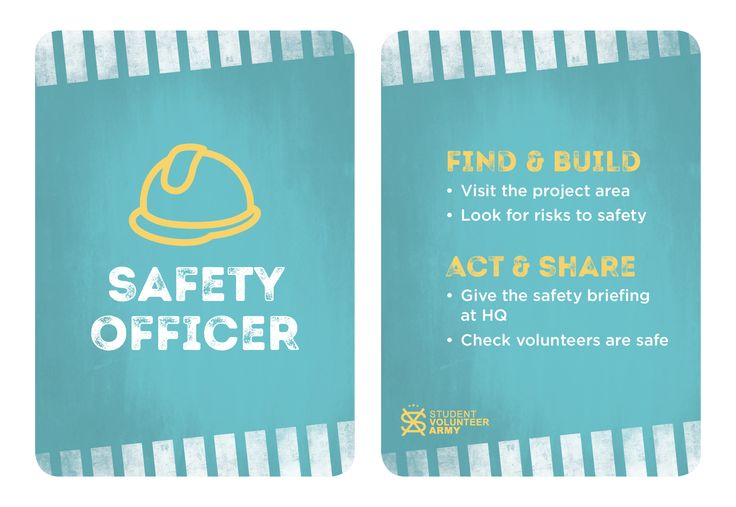 Project Team Role - Safety Officer