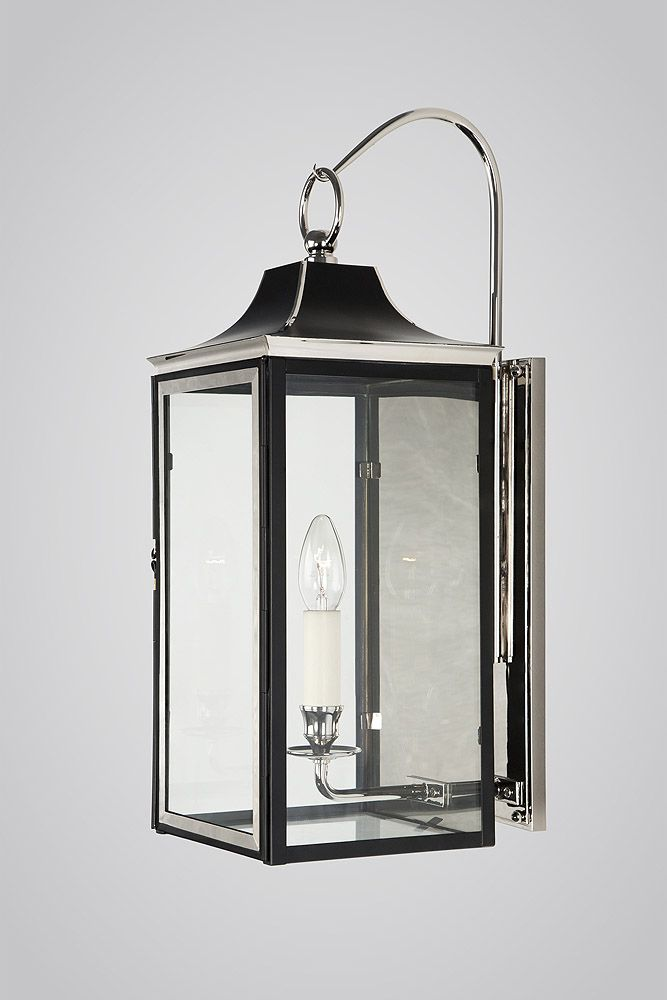 Shopad charles edwards empire state bracket lantern in nickel and black eggshell paint