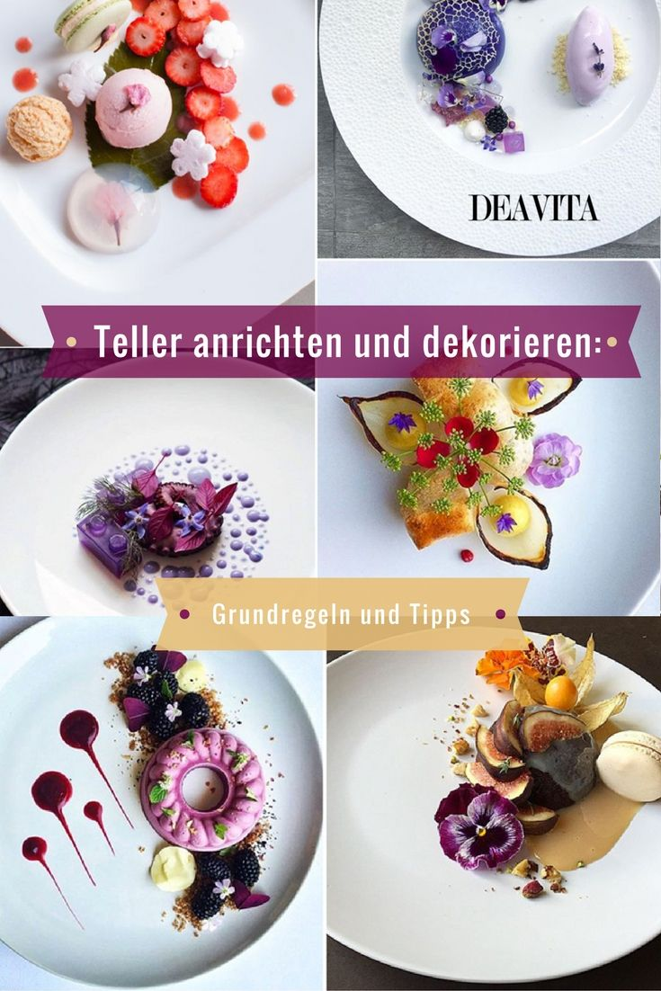 124 best anrichten images on pinterest credenzas food presentation and food art - Teller dekorieren ...