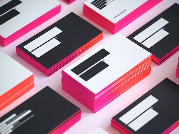 ombre business cards with spray paint