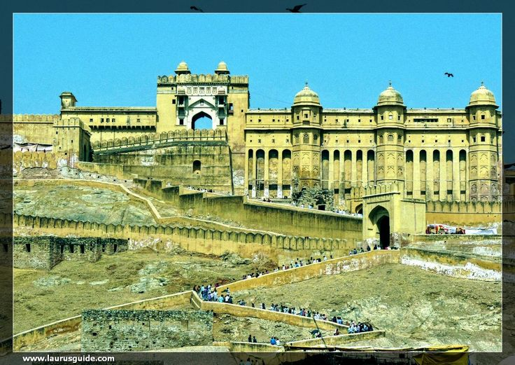 The Amer Fort, situated in Amber, 11 kilometers from Jaipur, is one of the most famous forts of Rajasthan. Amer, originally, was the capital of the state before Jaipur. It is an old fort, built in 1592 by Raja Man Singh. This fort is also very popularly known as the Amer Palace. The Amer Fort was built in red sandstone and marble and the Maotha Lake adds a certain charm to the entire Fort. The Amer Fort has influences of both Hindu and Muslim architecture.