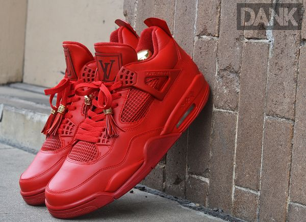 air jordan 4 red louis vuitton don by dank customs batman