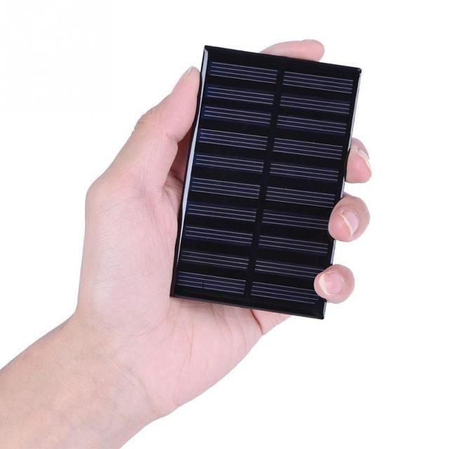 DIY 5V Solar Panel Mini Portable Polysilicon Board For Garden Light Power Supply Board