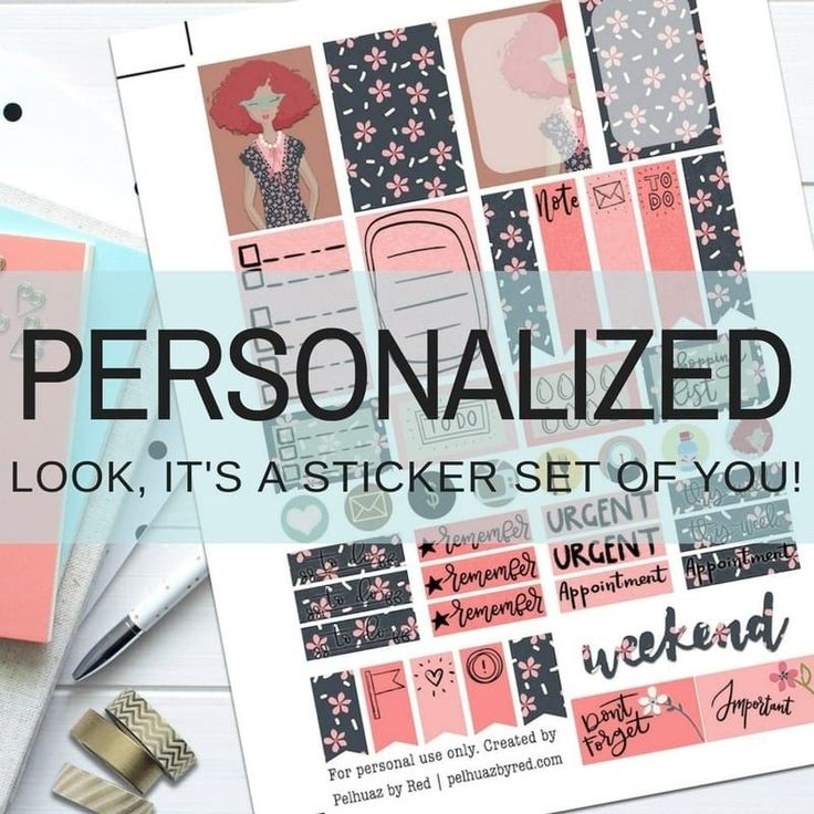 Personalized Theme Planner Weekly Sticker Kit | Personalized Sticker Set | Planner Girl | Weekly Sticker Set | Planner Sticker Set | Classic Happy Planner | Functional Stickers