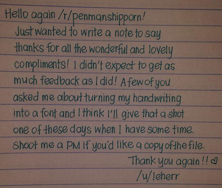 Handwriting amazing