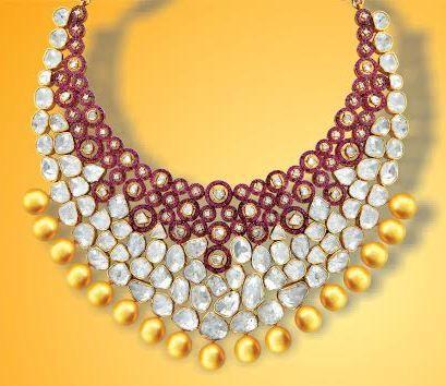 Awarded #Diamond Necklace designed at the Kalajee #Jewellery #Jaipur.