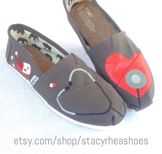 Nurse Doctor Pharmacist or any medical by StacyRheaShoes on Etsy. I stinkin' love these! ! #RN