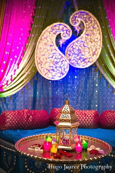 221 best wedding decorations images on pinterest indian bridal mendhi or sangeet night maharani weddings junglespirit Choice Image