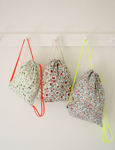 DIY Drawstring Backpacks