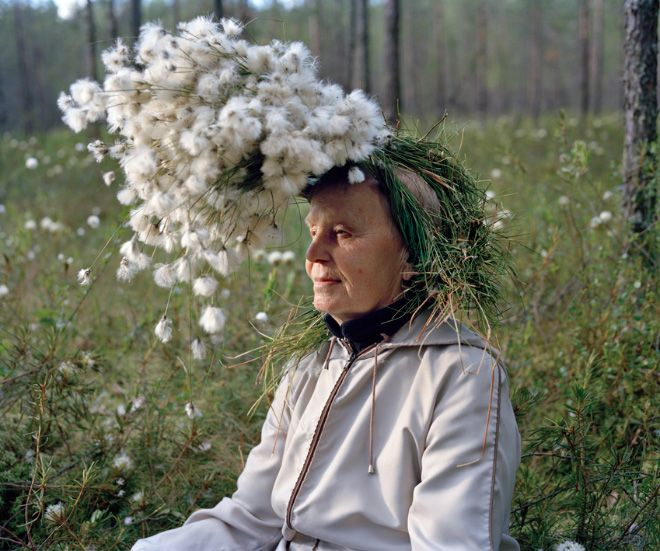 Bizarre Yet Delightfully Whimsical Photos of Old People Wearing Vegetation | Jeannie Huang