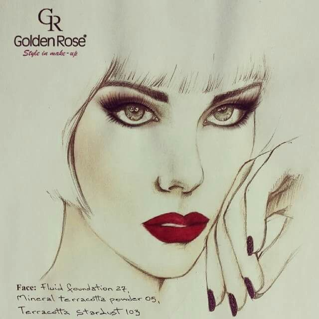 #goldenrose #sketch #draw #facechart #makeup