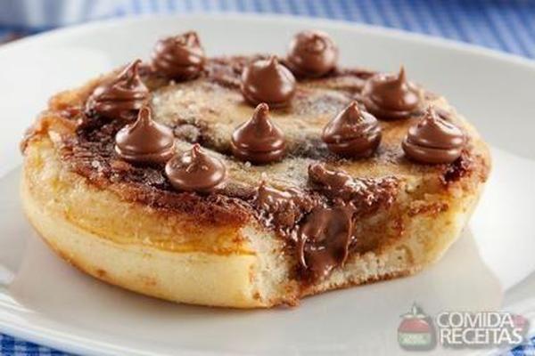 Panqueca com gotas de chocolate - Comida e Receitas