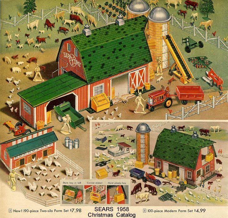 Marx Farm Set 1958 Sears Christmas Catalog