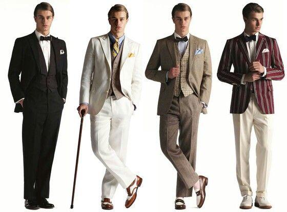 Menswear Inspired By 1920s Roaring 20s Birthday Gala