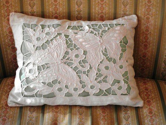 Antique Boudoir Cutwork Pillow