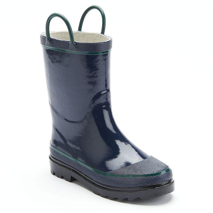 Western Chief Rain Boots - Boys, Boy's, Size: 12, Blue (Navy)