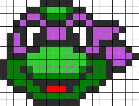 Donatello Ninja Turtle perler bead pattern