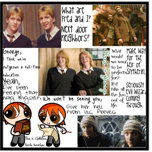 fred and george weasley funny quotes | Fred and George Weasley | made by young people at Makewaves
