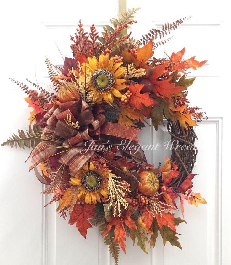 Beautiful Fall Wreath Sunflower Wreath Floral Wreath