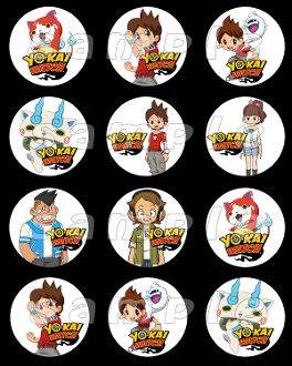 YO KAI WATCH 2.5 ROUND STICKERS