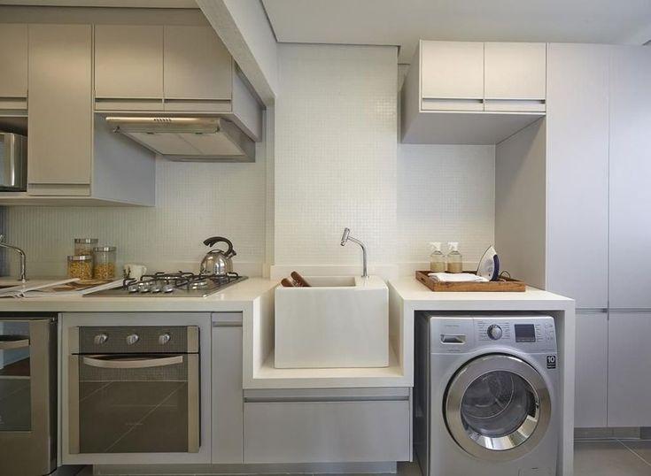 Cozinha e Área de Serviço Integradas: Tudo Que você Precisa saber   Ideias Reformas Cozinhas